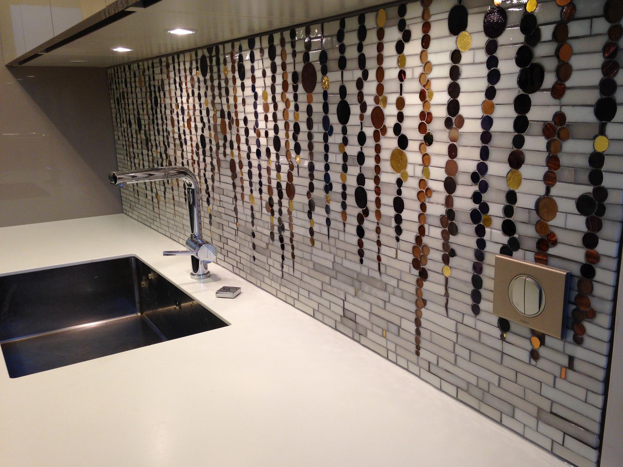 Mosaique Credence Cuisine Mosaique Aluminium Et Verre Credence
